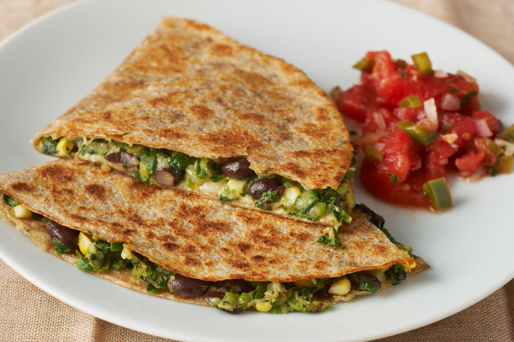 Black Bean and Vegetable Quesadilla