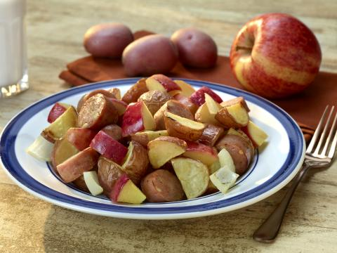 Roasted Potatoes and Apples with Chicken Sausage
