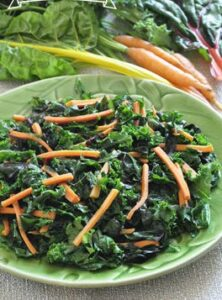 Greens with Carrots