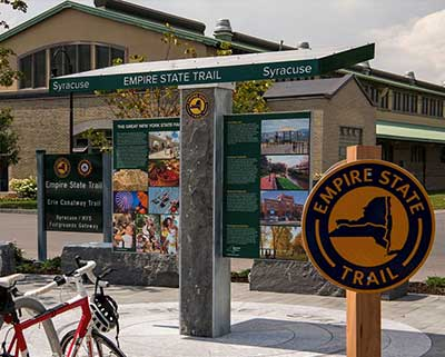 "Looking for ways to stay active? Now you can walk, run, ride or roll your way across New York State with the Empire State Trail complete!"" <a href=""https://www.snapedny.org/empire-state-trail/""> Click here to learn more!</a></p>"