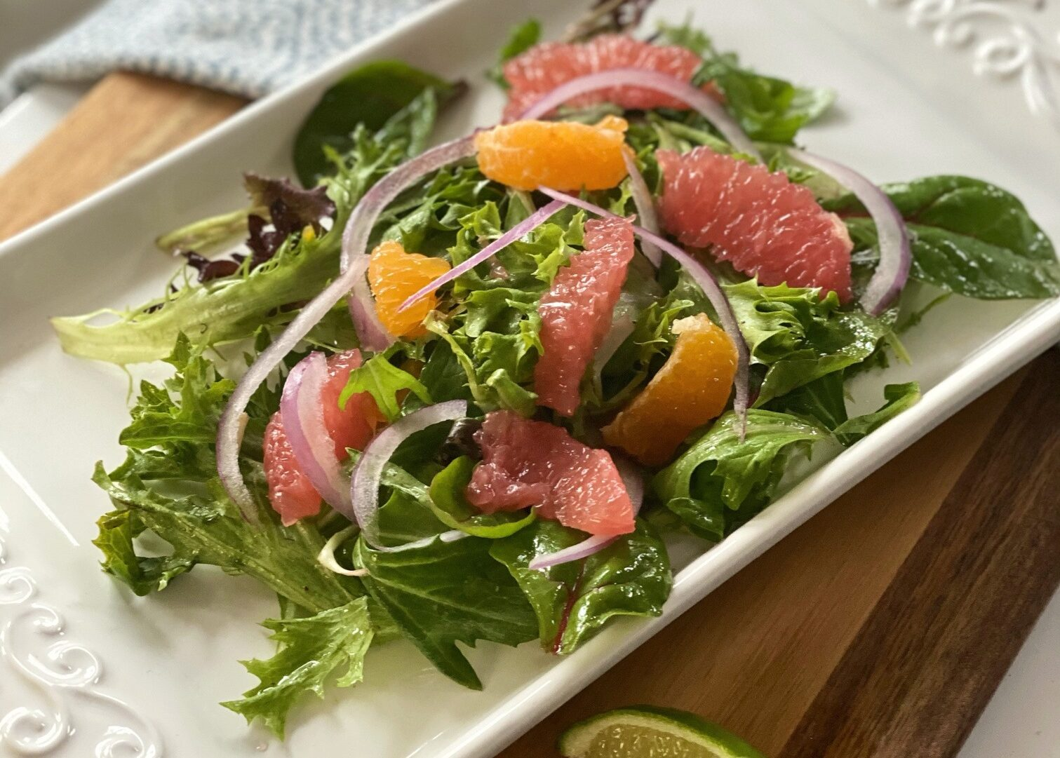 Salad with Grapefruit, Orange, and Lime