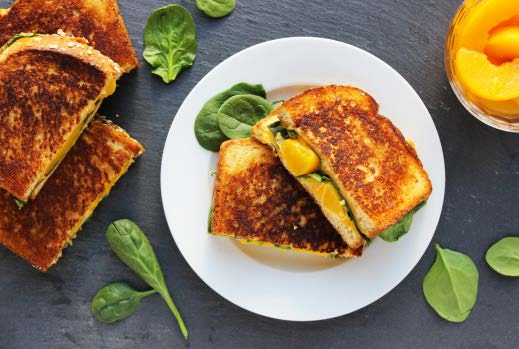 Grilled Cheese with Peaches