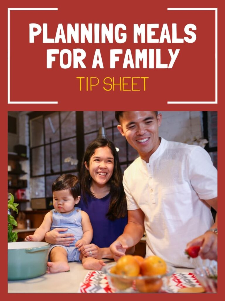 planning meals for a family