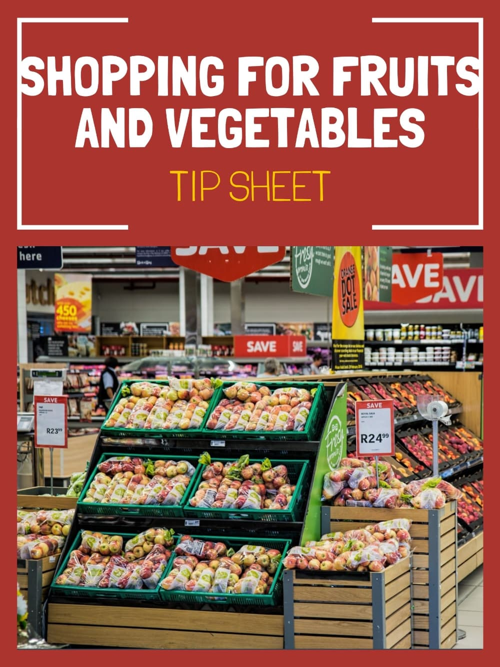 shopping for fruit and vegetables