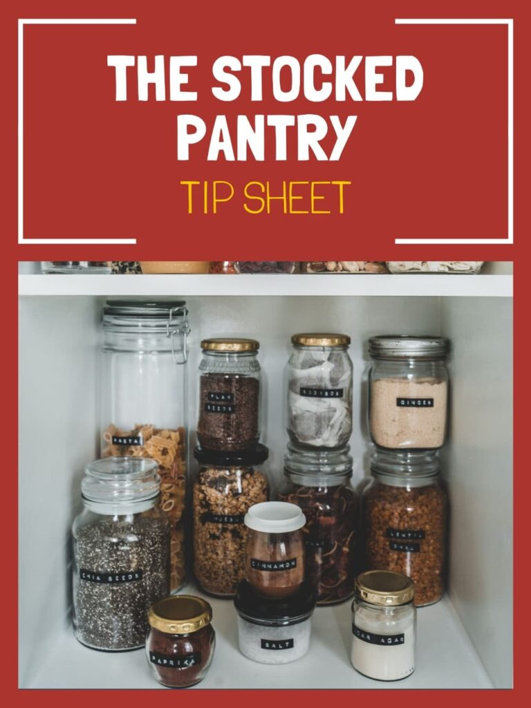 the stocked pantry