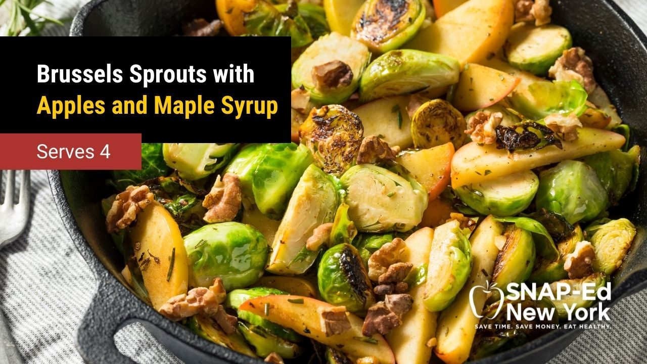 Brussels Sprouts with Apples and Maple Syrup