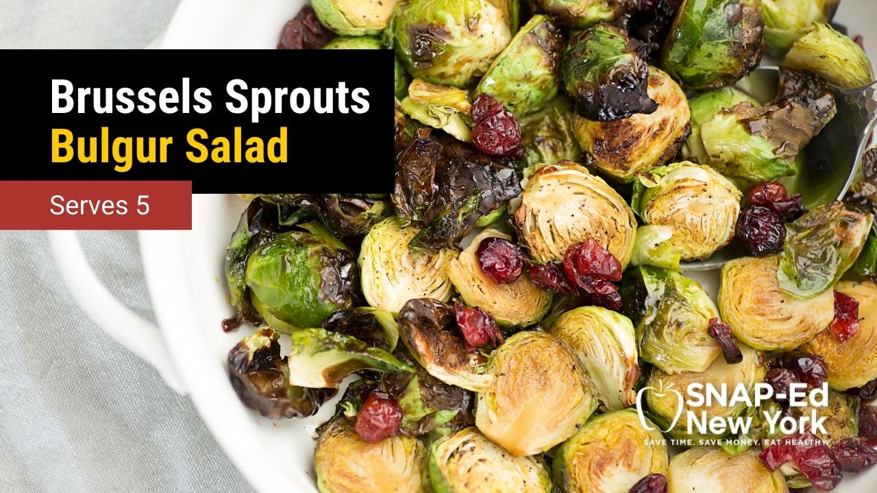 Brussels Sprouts, Cranberry, and Bulgur Salad